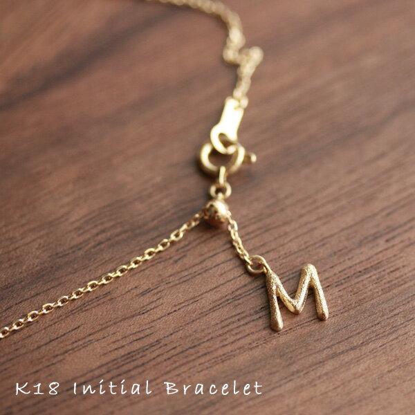 18金 ゴールド ブレスレットイニシャル モチーフレディース ブレスレットK18 18K   プレゼント DEVAS ディーヴァス