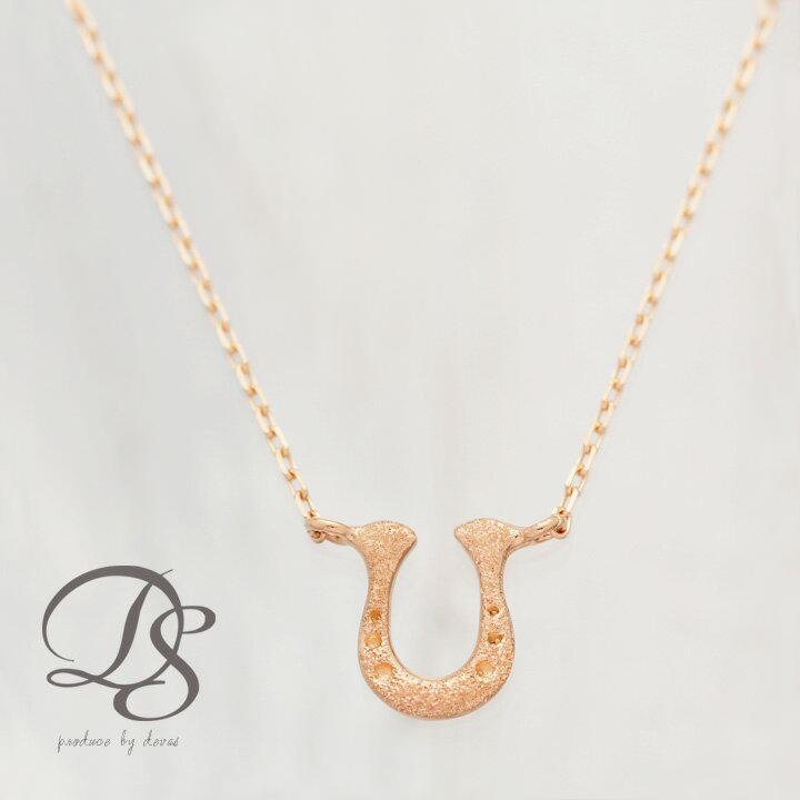 k18 18金 ピンクゴールド ネックレス 馬蹄 ネックレス レディース  プレゼント DEVAS ディーヴァス ホースシュー k18 PG プチネックレス