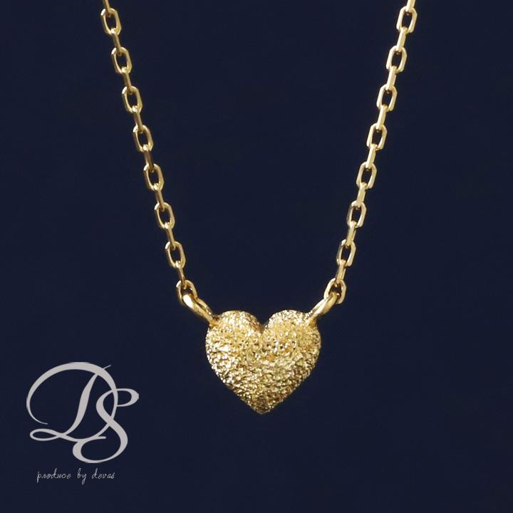 K18 ゴールド ネックレス ぷっくらハート レディース  プレゼント DEVAS ディーヴァス ハート ネックレス k18 ネックレス 18k ネックレス 18金 プチネックレス