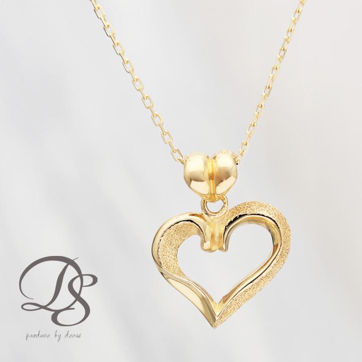 ゴールド ネックレス レディース k18 18金ハート モチーフ ネックレス  プレゼント DEVAS ディーヴァス