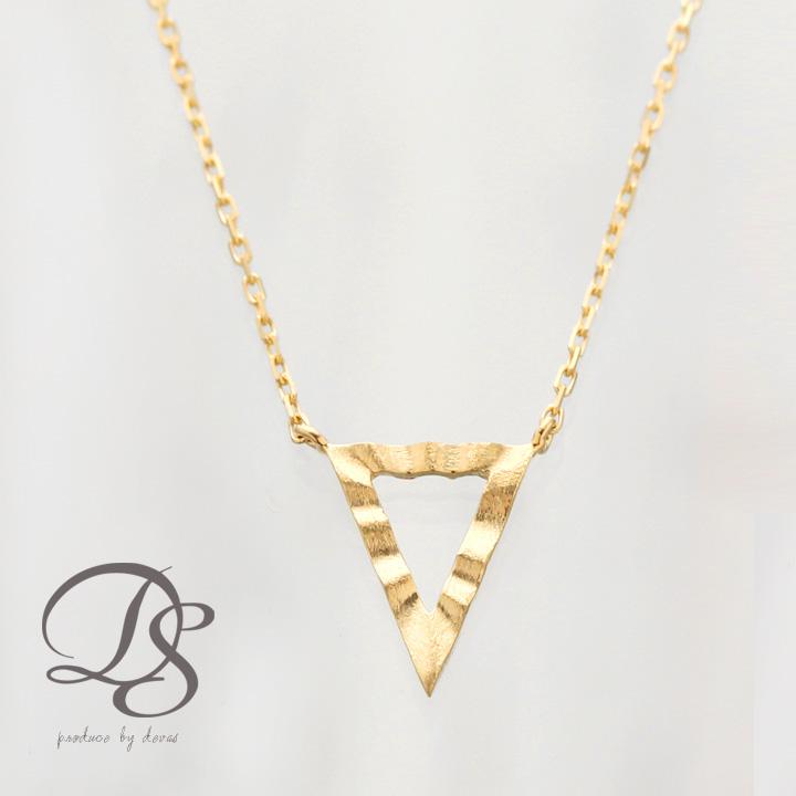 K18 ゴールド ネックレストライアングルモチーフ レディース   プレゼント DEVAS ディーヴァス 三角形 ネックレス 18k 18金