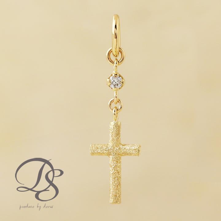 ゴールド ペンダント レディース k18 18金クロス ダイヤモンド チャーム ペンダント  プレゼント DEVAS ディーヴァス