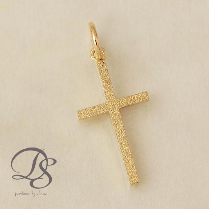 20mm x 10mm Million Charms 14k Yellow Gold Small//Mini Religious Cross Tiny Charm Pendant