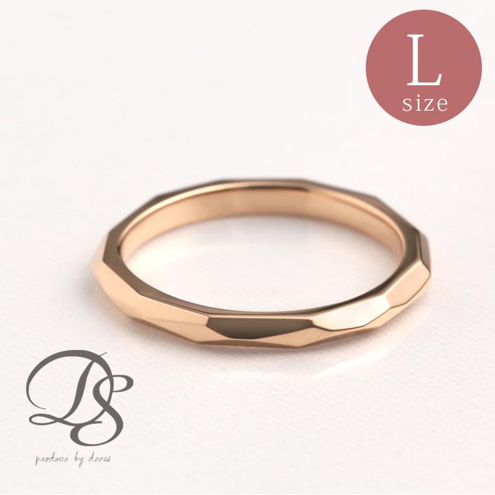 ピンクゴールド リングK18 PG指輪 レディース 18金 リング 太め ごつめ シンプル おしゃれ誕生日 プレゼント ペアリング 結婚指輪DEVAS