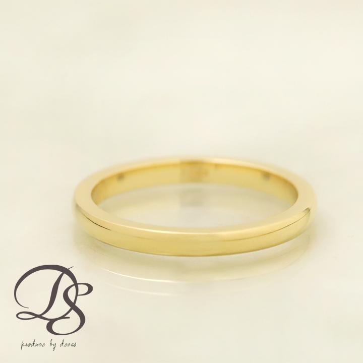 18金 リング指輪 レディース18k甲丸リング 2mmレディース メンズゴールド ピンクゴールド リング ホワイトゴールドK18 ペアリング 結婚指輪DEVAS
