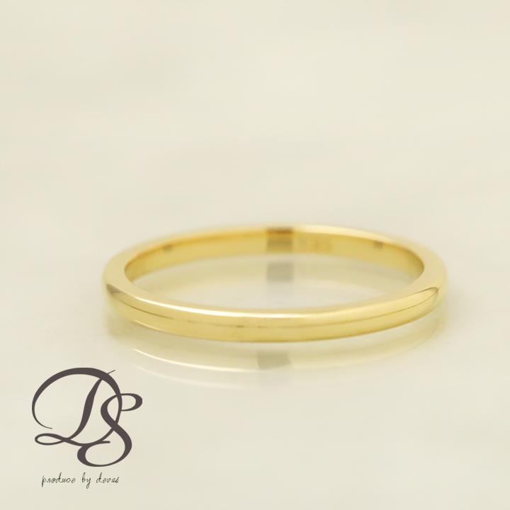 18金 リング ピンキーリング 18k 指輪 レディース メンズ ゴールド ピンクゴールド ホワイトゴールド1.5mm幅 甲丸 選べる仕上げ(光沢・マット)重ねづけ 誕生日 ギフト プレゼント 贈り物 ペアリング 結婚指輪1号から製作 DEVAS ディーヴァス 送料無料