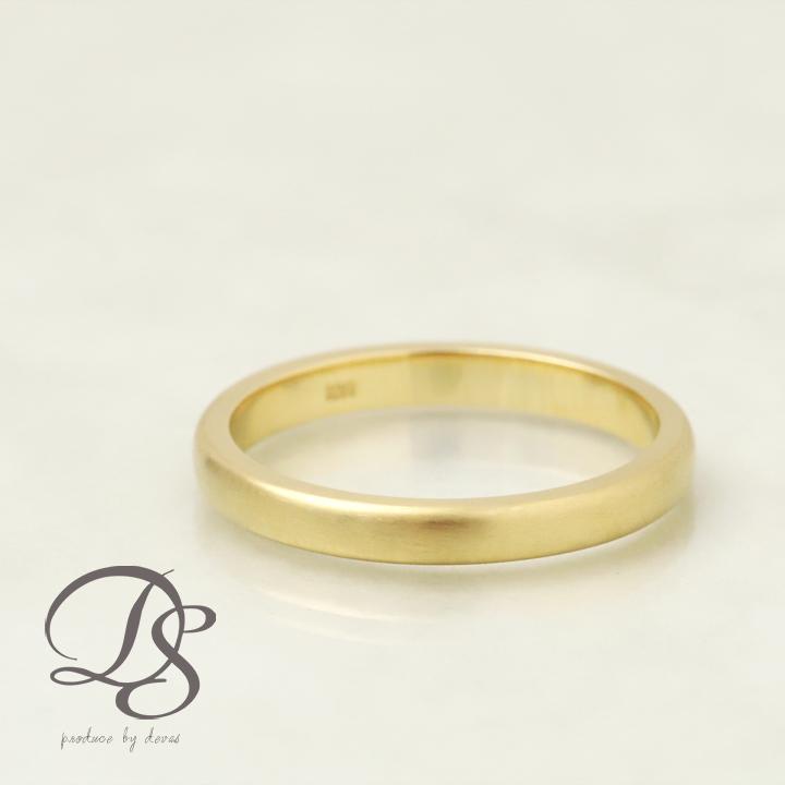 18金 リング レディース 18k 指輪 レディース メンズ ゴールド リング K18 ピンクゴールド ホワイトゴールド2.5mm幅 甲丸 選べる仕上げ(光沢・マット)誕生日 ギフト プレゼント 贈り物 ペアリング 結婚指輪1号から製作 DEVAS ディーヴァス 送料無料 e1