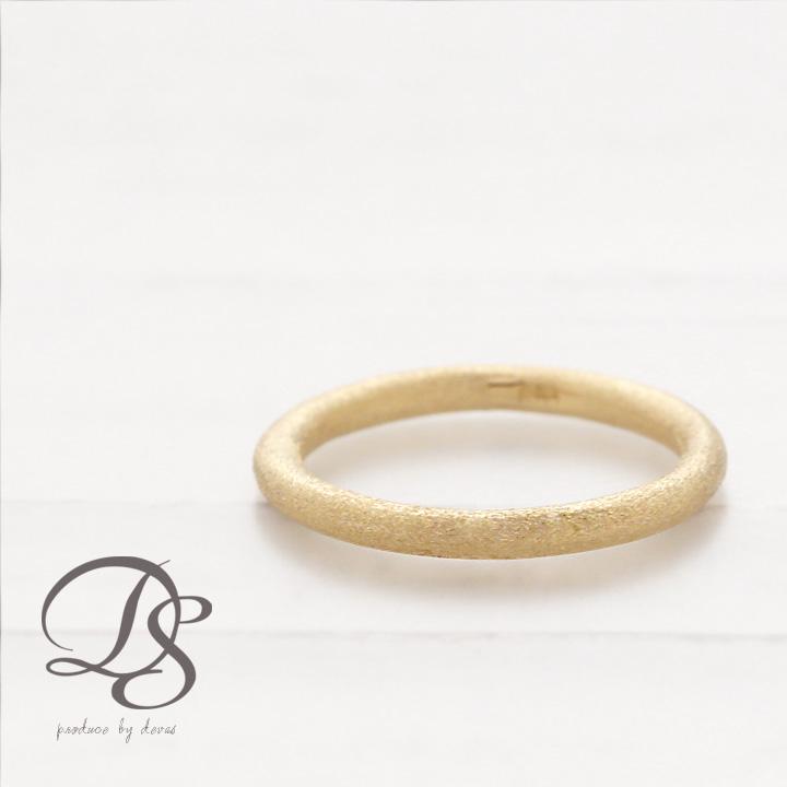 他には無いシルクのようなオシャレな指輪 ピンキーリングにも♪ゴールドリング リング レディース 18金 ゴールド 18k 華奢 誕生石  プレゼント シンプル おしゃれ かわいい DEVAS ディーヴァス