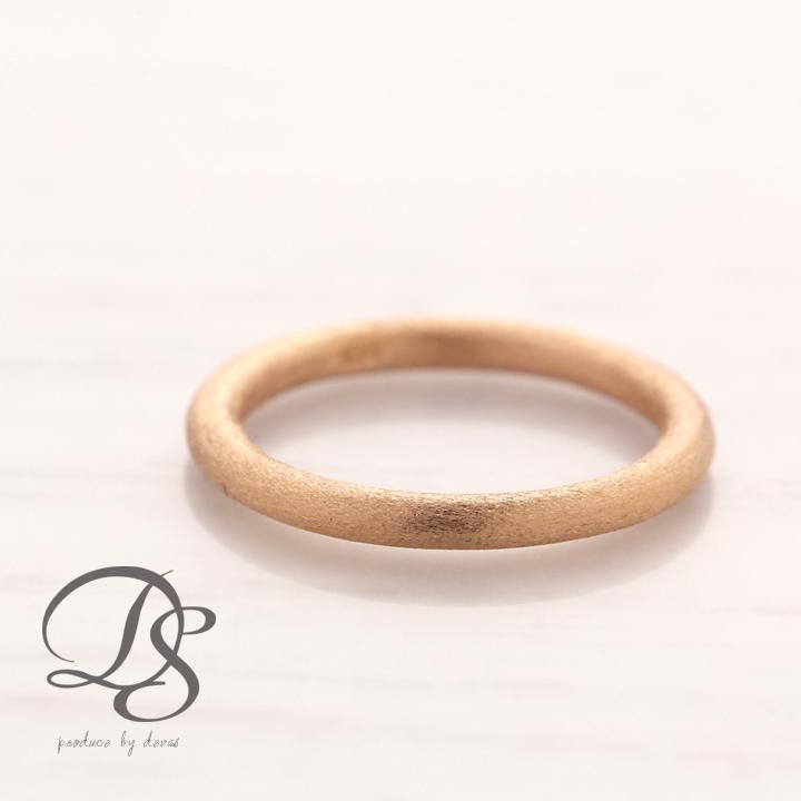 K18 ピンクゴールド リングレディース 18金 18k PG他には無いシルクのようなオシャレな指輪ピンキーリングにもオススメ  プレゼント DEVAS ディーヴァス