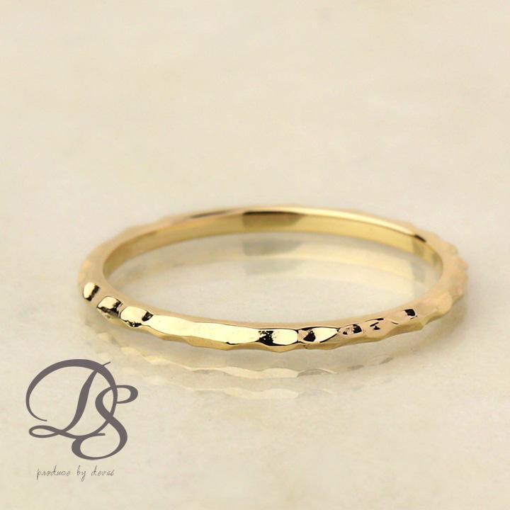 ゴールド リング 凸凹 リング ring gold 18k ピンキーリング 18金 リング  プレゼント DEVAS ディーヴァス