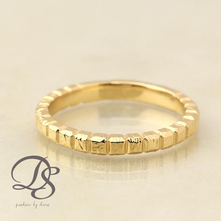 18金 リング レディース 18k 指輪 メンズ ゴールド リング K18ブロックデザイン(L) シンプル 無機質誕生日 ギフト プレゼント 贈り物 妻 彼女 ペアリング 結婚指輪DEVAS ディーヴァス 【送料無料】