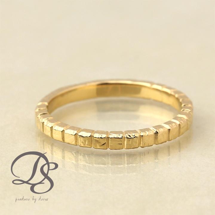 18金 リング レディース 18k 指輪 メンズ ゴールド リング K18ブロックデザイン(M) シンプル 無機質誕生日 ギフト プレゼント 贈り物 妻 彼女 ペアリング 結婚指輪DEVAS ディーヴァス 【送料無料】