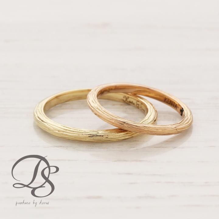 【送料無料】K18 ゴールド ペアリング レディース メンズ 結婚指輪 マリッジリング 18金 18K K18マリッジリング 18金マリッジリング 18Kリング おしゃれ シンプル 大人可愛い プレゼント DEVAS ディーヴァス ペア