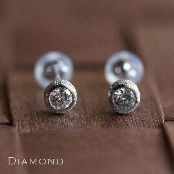 ホワイトゴールド ピアス レディース k18 18金 18K0.2ctダイヤ ピアス 人気の一粒ダイヤ  プレゼント DEVAS ディーヴァス