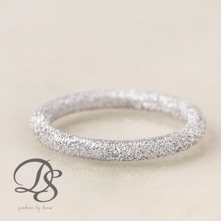ホワイトゴールド ピンキーリング レディース k18 18金ダイヤモンド おしゃれ リング  プレゼント DEVAS ディーヴァス