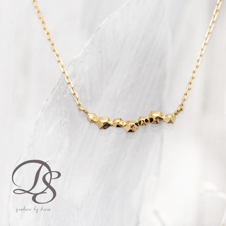 K18 ゴールド ネックレス 凸凹流れ星 レディース  プレゼント DEVAS ディーヴァス 流れ星 ネックレス k18 ネックレス 18k ネックレス 18金 プチネックレス