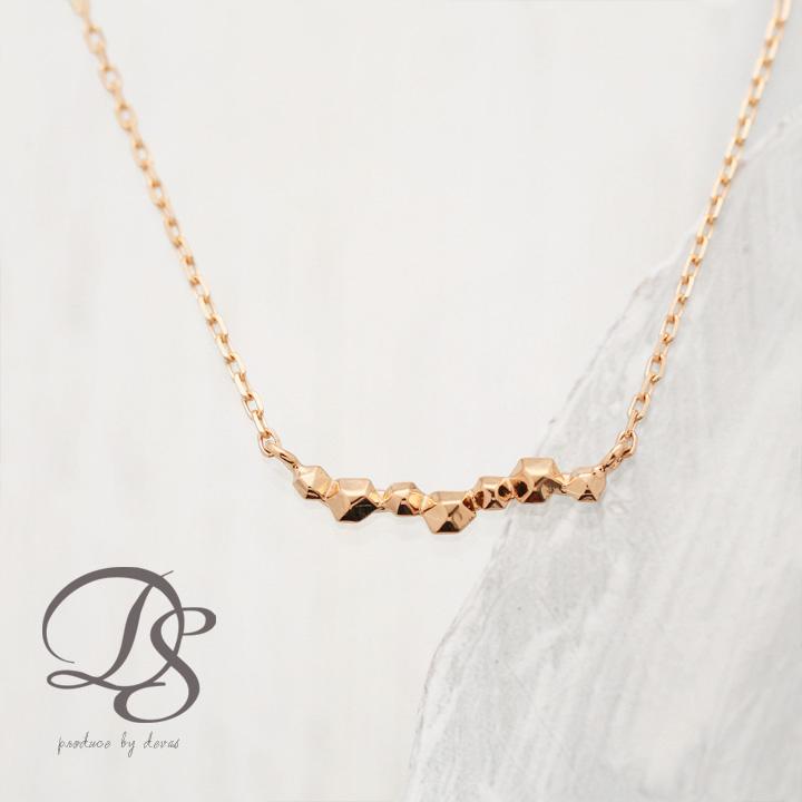 ピンクゴールド ネックレス 流れ星 ネックレス レディース  プレゼント DEVAS ディーヴァス k18 PG k18 18金 プチネックレス