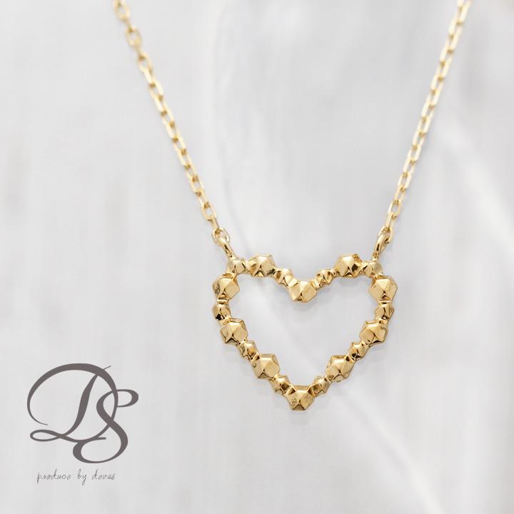 K18 ゴールド ネックレス 凹凸ハートデザイン レディース  プレゼント DEVAS ディーヴァス ハート ネックレス k18 ネックレス 18k ネックレス 18金 ネックレス