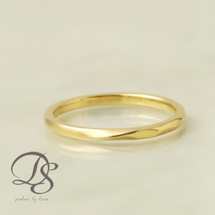 K18 ゴールド リング 18金 18k リング ひねり(S) ツイストレディース 結婚指輪 マリッジリング 誕生日 プレゼント 贈り物 妻 彼女 かわいい ゴールドリング ペア ジュエリー ペアアクセサリー 【DEVAS ディーヴァス】1012a