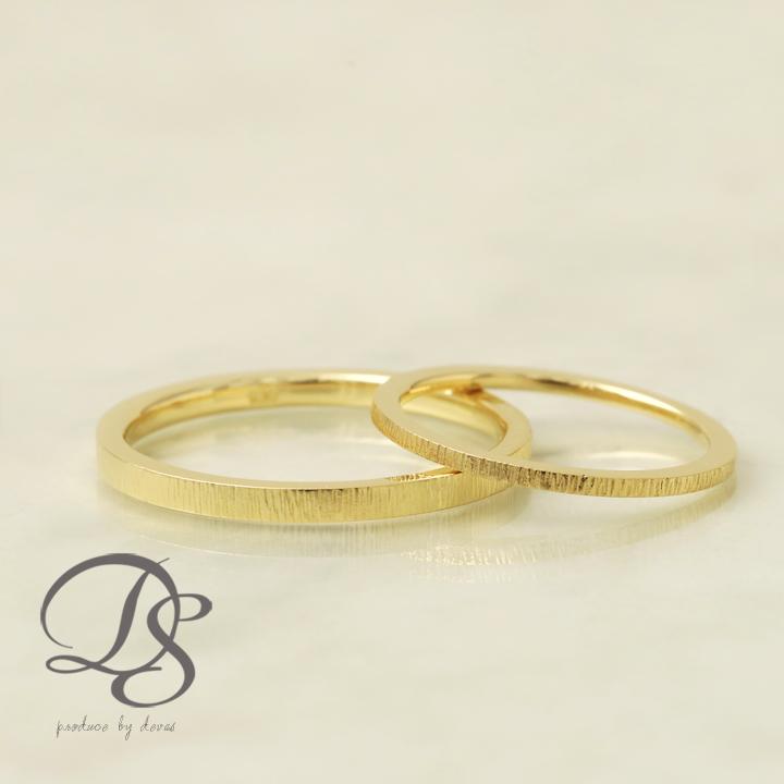 K18 ゴールド ペアリング 18金 18k リング 縦ライン グルーブ レディース メンズ 結婚指輪 マリッジリング 誕生日 プレゼント 贈り物 妻 彼女 かわいい ゴールドリング ペア ジュエリー ペアアクセサリー プレゼント DEVAS ディーヴァス 1012b