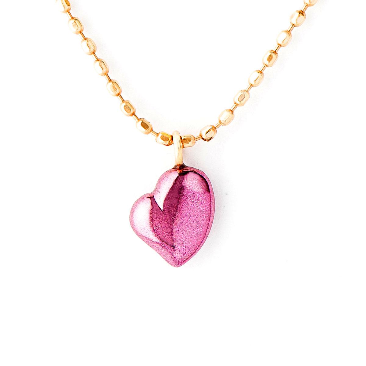 Cierin Cute ペンダントネックレス Loving Heart K18 パープルゴールド (ハート ネックレス PURPLE GOLD ジュエリー プレゼント ギフト)