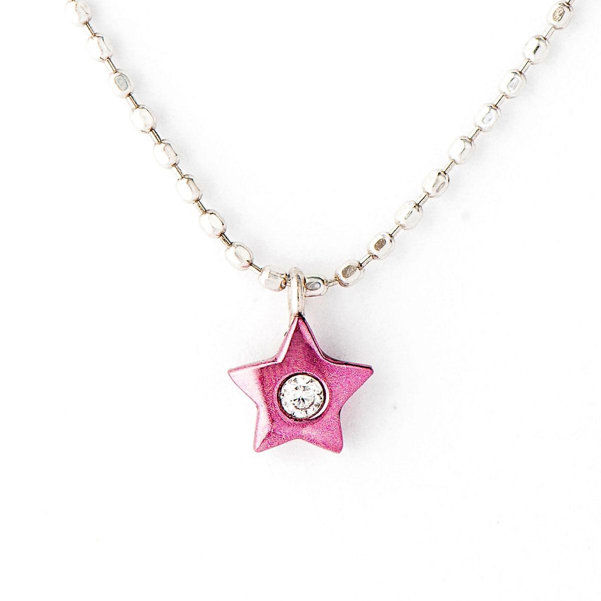 Cierin Cute ダイヤモンド ペンダント ネックレス スター Charm K18 パープルゴールド(星 ダイヤモンド ネックレス パープルゴールド PURPLE GOLD ジュエリー プレゼント ギフト)