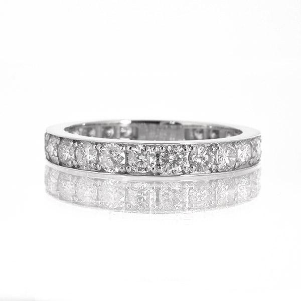 1カラット ダイヤモンド リング エタニティ Pt900 プラチナ 1.0ct フルエタニティ フチあり 鑑別書付 保証書付 普段使い デイリー ギフト プレゼント 結婚指輪 マリッジリング