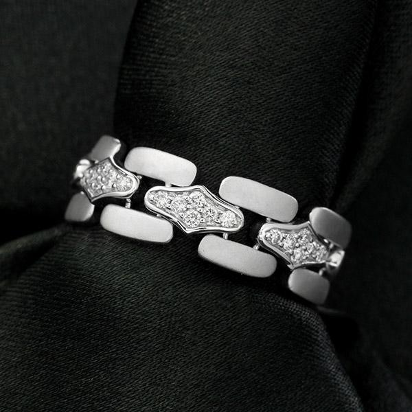 ダイヤモンド リング K18 ホワイトゴールド 0.2ct 鑑別書付 保証書付 インポート 普段使い デイリー ギフト プレゼント しなやかな 着け心地 やわらか