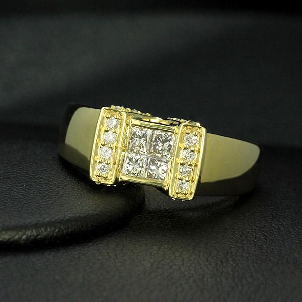 K18イエローゴールド ダイヤモンド 0.6ct リング 鑑別書付 保証書付 ギフト プレゼント
