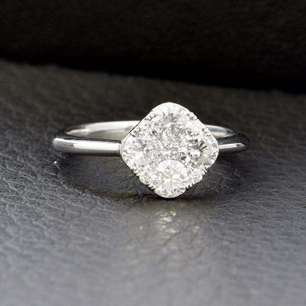ダイヤモンド リング Pt900 プラチナ 1.0ct 鑑別書付 保証書付 インポート ギフト プレゼント 見栄え 豪華
