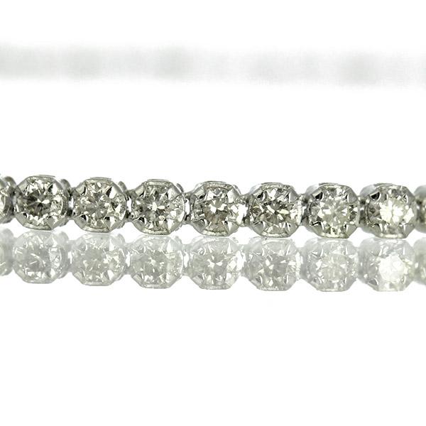 Pt850 ダイヤモンド ブレスレット 1.0ct テニスブレスレット 1カラット 1キャラット 鑑別書付 保証書付 ギフト プレゼント