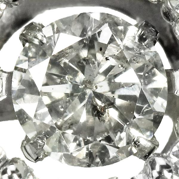 ダンシングストーン ダイヤモンドネックレス0.5ct Pt900 天然ダイヤモンド 揺れるネックレス ダンシングダイヤ TVCM CM クロスフォー Crossfor 正規品 鑑別書付 保証書付 ギフト プレゼント