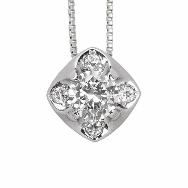 ダイヤモンド ネックレス 0.3ct Pt900 プラチナ 鑑別書付 保証書付 普段使い デイリー ギフト プレゼント 誕生石 4月