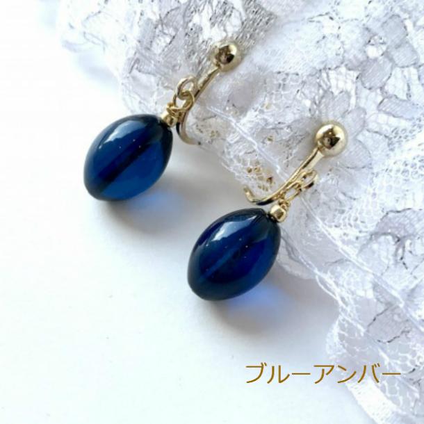 大人の女性の耳元を素敵に彩る 天然琥珀のピアスプレゼントにも最適 琥珀 イヤリング ブルーアンバー 天然琥珀 青い琥珀 超激安特価 オンライン限定商品 パワーストーン
