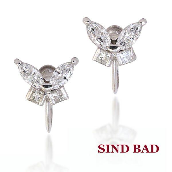 ダイヤモンド 0.796ctのプラチナイヤリング(スクリュータイプ)【ダイヤモンド イヤリング】