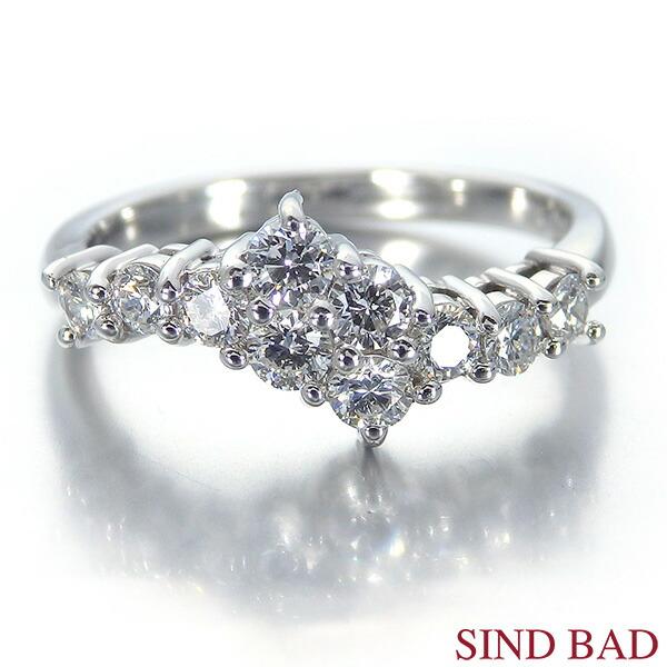 スイートテンダイヤモンド 指輪 プラチナ リング 0.56ct 誕生日 プレゼント【ダイヤモンド リング】【スイート10】【送料無料】【代引き手数料無料】