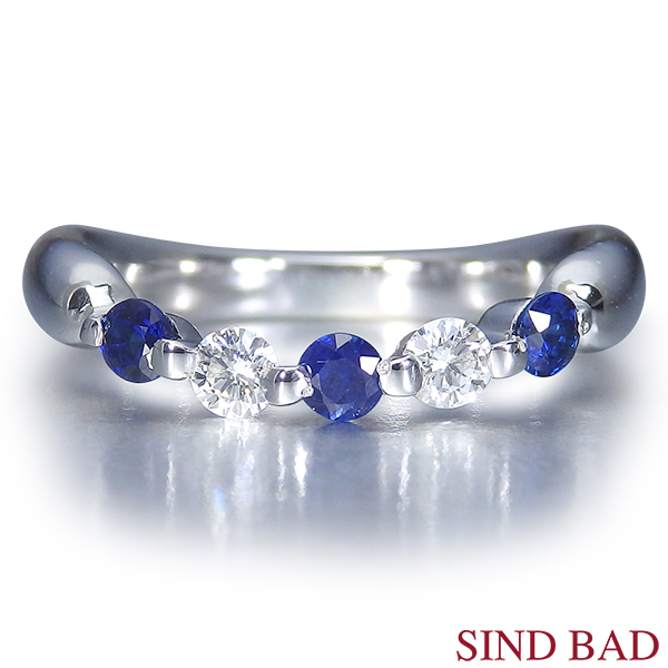 サファイア 指輪 サファイヤ プラチナ リング サファイヤ 0.280ct ダイヤ 0.148ct【サファイヤ】