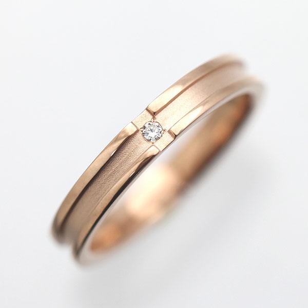 結婚指輪 K10PG ダイヤモンド クロスリング メンズリング マリッジリング サンキュークーポン
