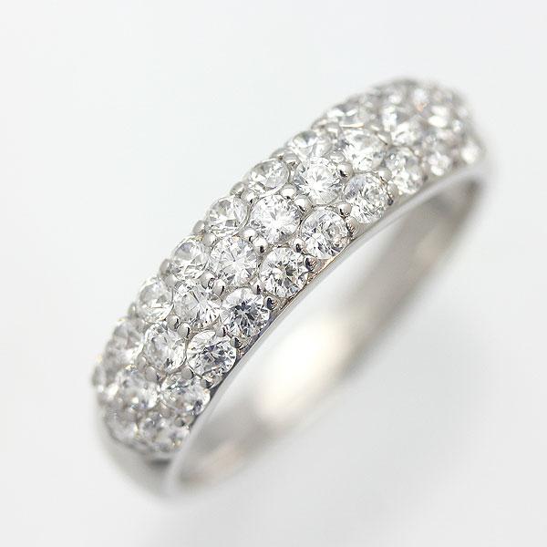 指輪 女性用 PT900(Pt90%) 0.7ct ダイヤモンド パヴェリング レディースリング