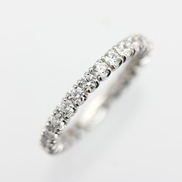 指輪 女性用 PT900(Pt90%) ダイヤモンド 1.0CT フルエタニティリング レディースリング