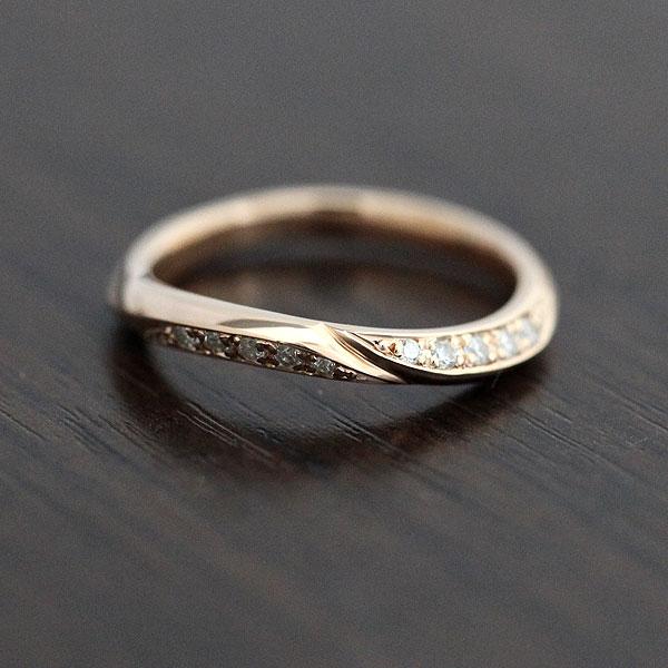 【SALE★30%以上OFF!】 【ポイント優待】 結婚指輪 K18PG ダイヤモンド 0.10ct ピンクゴールド レディースリング ギフト プレゼント 彼女 サンキュークーポン