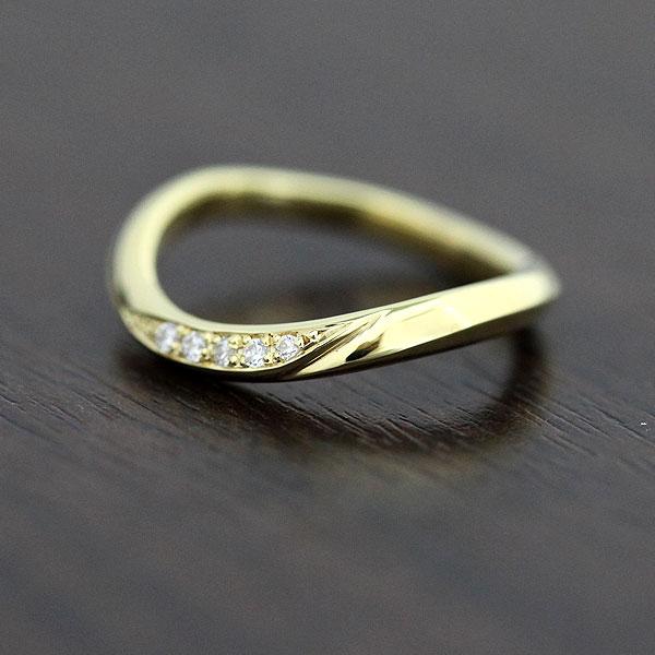 刻印無料 ダイヤモンド0.05カラット K18リング クリスマス ギフト プレゼント 彼女 結婚指輪 K18 イエローゴールド レディース 毎日がバーゲンセール 安い ライン 0.05ct ダイヤ マリッジリング リング