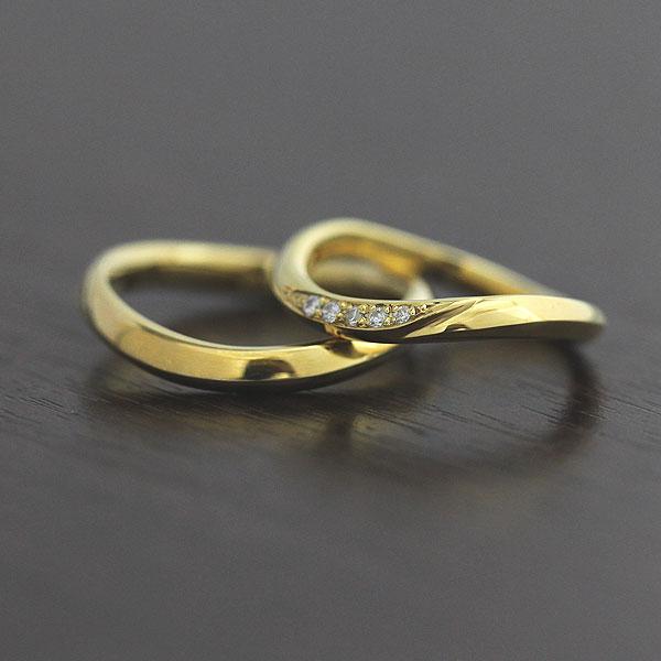【SALE★30%以上OFF!】 【ポイント優待】 結婚指輪 ペアリング K18YG ダイヤモンド 0.05ct マリッジリング イエローゴールド サンキュークーポン