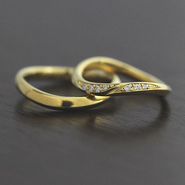 【SALE★30%以上OFF!】 【ポイント優待】 結婚指輪 ペアリング K18YG ダイヤモンド 0.07ct マリッジリング イエローゴールド サンキュークーポン