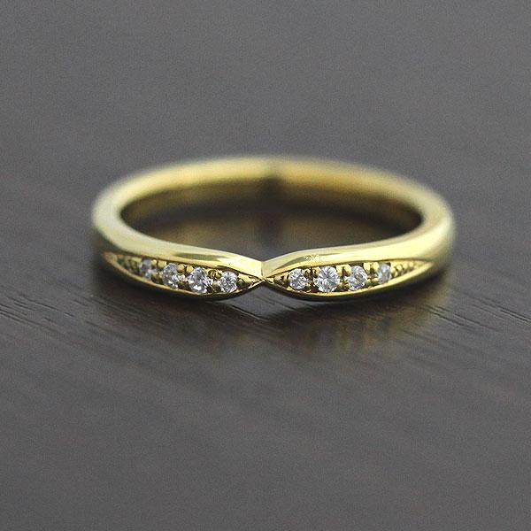 【SALE★30%以上OFF!】 【ポイント優待】 結婚指輪 K10YG ダイヤモンド 0.07ct イエローゴールド クロス レディースリング サンキュークーポン