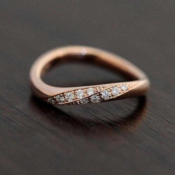 結婚指輪 K10PG ダイヤモンド 0.10ct ピンクゴールド レディースリング ギフト プレゼント 彼女 サンキュークーポン