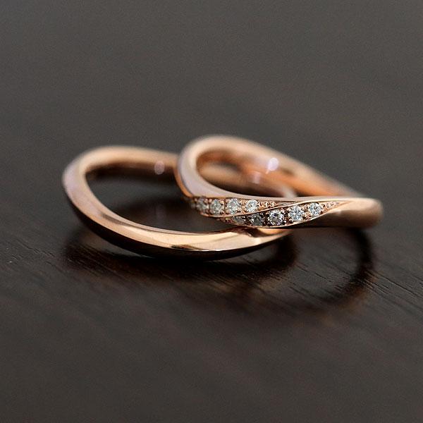 結婚指輪 ペアリング K18PG ダイヤモンド 0.10ct ピンクゴールド マリッジリング サンキュークーポン