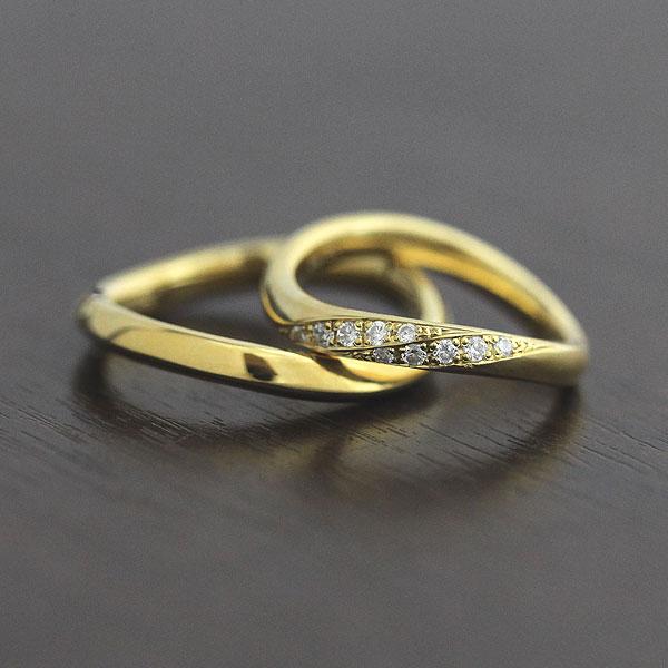 【SALE★30%以上OFF!】 【ポイント優待】 結婚指輪 ペアリング K18YG ダイヤモンド 0.10ct イエローゴールド マリッジリング サンキュークーポン