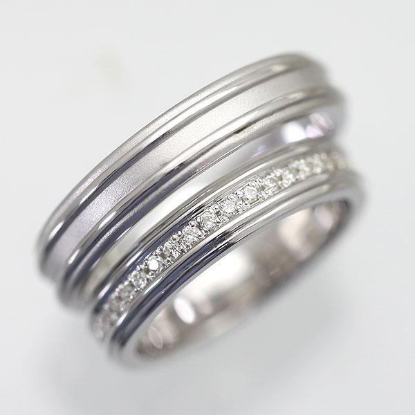 結婚指輪 プラチナ PT900(Pt90%) ダイヤモンド フルエタニティリング シンプル ペアリング