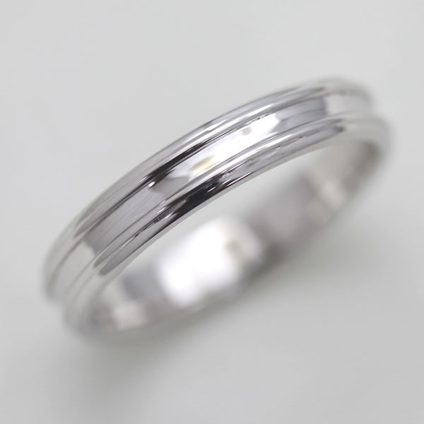 結婚指輪 K10WG シンプルリング マリッジリング メンズリング